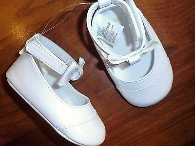 2 3 4 Gymboree White Patent Leather Dress Crib Shoe Christening Baby Girl NWT