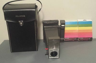 Polaroid Big Shot With Case And Two Packages Of Unused Expired Film