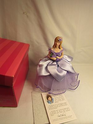 """Marie Osmond """"Lavender Lady"""" Pin Cushion Doll 9"""" in Original Box  LOVELY"""