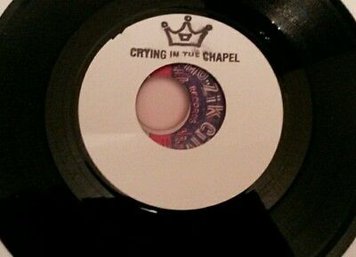 """Great Elvis / roots reggae mash up 7"""" single, Crying In The Chapel , mint"""