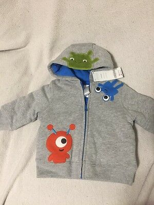 Gymboree Boys Size 6-12 Months Jacket With Little Monsters, Brand New With Tags
