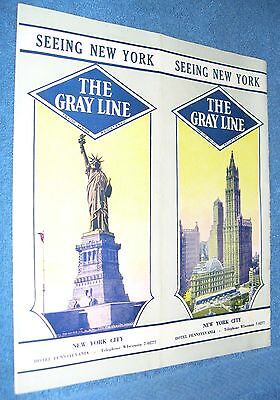 The Gray Line - Sightseeing Motor Trips all Over the Map 1930 Brochure
