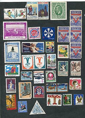 Stamp Lot Of Worldwide Labels, Lottery Ticket, Ect (2 Scans)