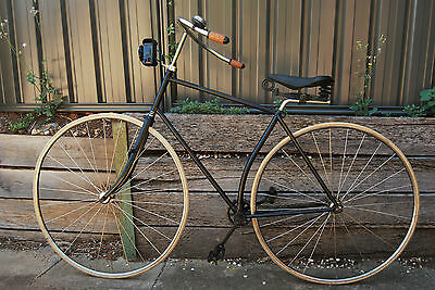 1888 Australian Antique  Vintage Solid Tyred Safety  Bicycle