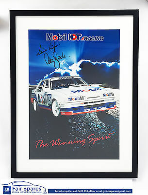 Genuine Peter Brock Personally Signed VL Group A SS Commodore Mobil HDT Poster
