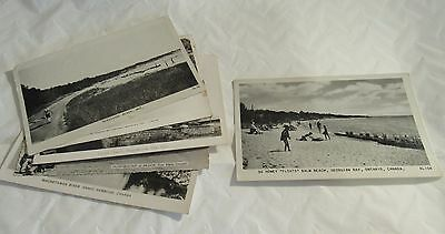 1940-50s Lot 7 Ontario Resort Area Real Photo Postcards Small Town Vintage RARE