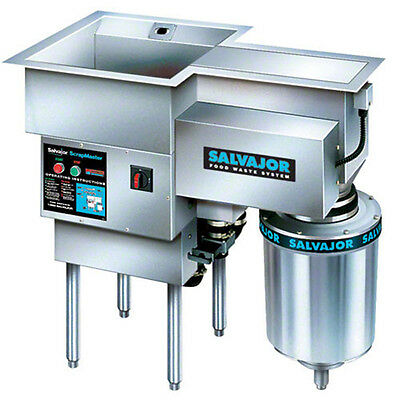 Salvajor 300-SM ScrapMaster 3 HP Disposer System w/ Water Recirculation