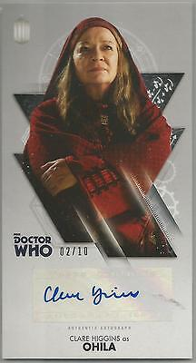 TOPPS DR. WHO THE TENTH DOCTOR ADVENTURES autograph card - CLARE HIGGINS #02/10