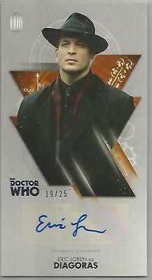 TOPPS DR. WHO THE TENTH DOCTOR ADVENTURES autograph card - ERIC LOREN #19/25