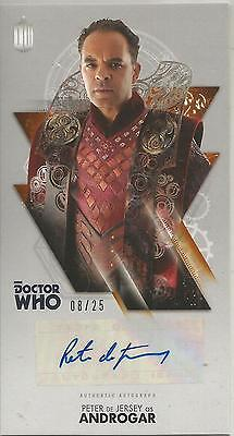 TOPPS DR. WHO THE TENTH DOCTOR ADVENTURES autograph card - PETER DE JERSEY #8/25