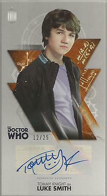 TOPPS DR. WHO THE TENTH DOCTOR ADVENTURES autograph card - TOMMY KNIGHT #12/25