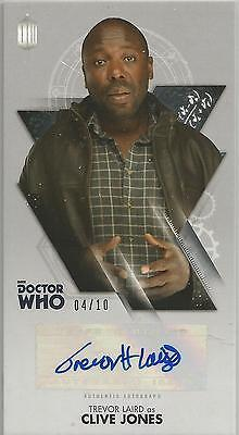 TOPPS DR. WHO THE TENTH DOCTOR ADVENTURES autograph card - TREVOR LAIRD #04/10