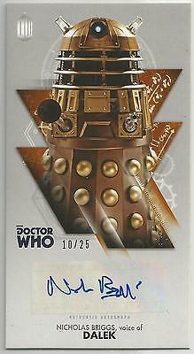 TOPPS DR. WHO THE TENTH DOCTOR ADVENTURES autograph card -NICHOLAS BRIGG #10/25