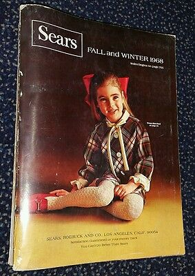 Vintage Sears Catalog 1968 Fall & Winter Big Book-1680 pages!