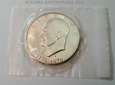 1976 S Eisenhower Dollar Coin *40% Silver*  *in Mint Cello!*  **free Shipping**