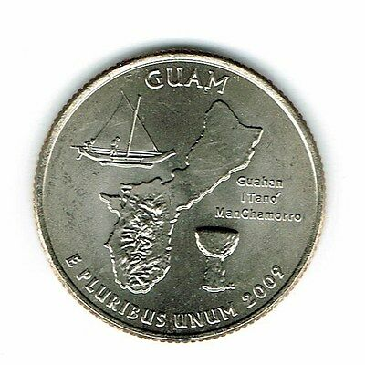 2009-P Brilliant Uncirculated Guam Quarter Coin!
