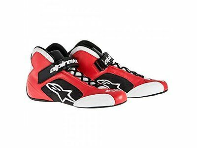Alpinestars Tech 1-K Shoes - Red/silver - Size 11 New
