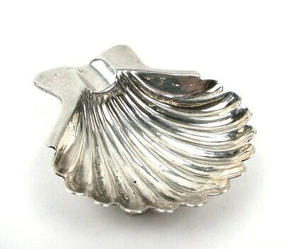 Vintage Sanborns Mexico Sterling Silver Clam Shell Ash Tray / Salt Cellar 28.5g
