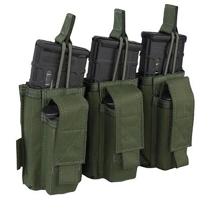 Triple Open M4 & 9mm Mag Pouches Warrior Elite Ops -Farbe: Olive