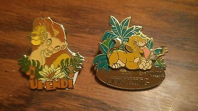 Walt Disney The Lion King collector pins Lot of 2