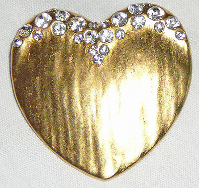 Heart brooch with crystals, never worn, easy to gift, all original crystals