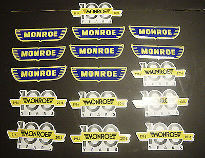 Lot of 16 New Monroe Shock Absorber 100th Anniversary Stickers Decals Vtg Logo