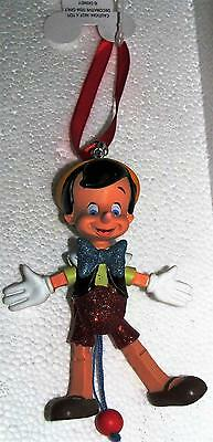 Disney Parks Pinocchio Articulated Figure Marionette Puppet Ornament  NEW