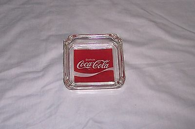 Disfrute Coca Cola Glass Ashtray Spanish Advertising