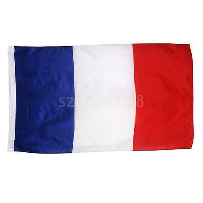 FRANCE FRENCH NATIONAL LARGE 5x3FT PARIS FANS SUPPORTER FLAG Hanging Eyelets
