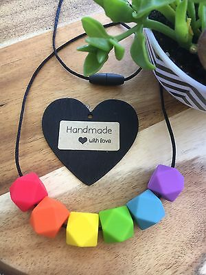 Silicone Sensory Baby (was teething) Necklace for Mum Jewellery Beads Aus Rain