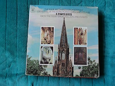 """E POWER BIGGS Bach/ The Four """"Great """" Toccatas and Fugues ~ US Columbia M 32933"""