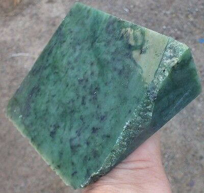 2.0 LB BC Canada Green Jade block  Rough Specimen