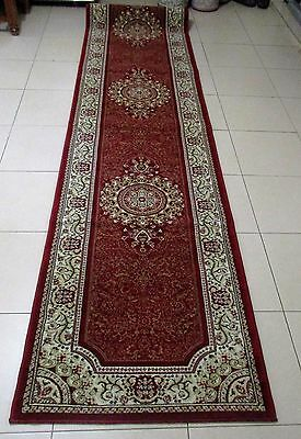 New Extra Long Persian Design High Quality Hallway Runner Floor Rug 80X400Cm