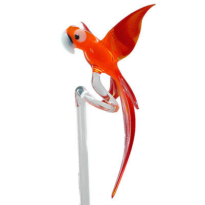 Orchid Rod Orchid Rods Orchid holder made of glass with Parrot