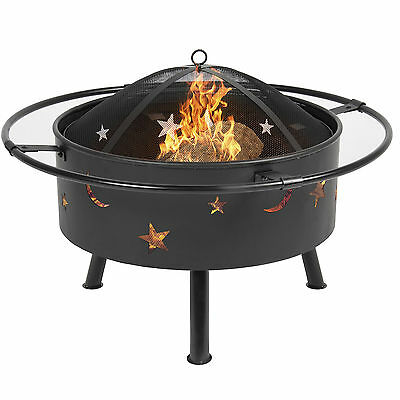 "Best Choice Products 30"" Fire Pit BBQ Grill FireBowl Patio Fireplace Firepit"