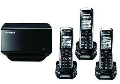 AS New Panasonic KX-TGP500 SIP DECT VoIP Cordless Phone System With 3 Handsets *