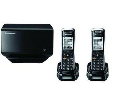 AS New Panasonic KX-TGP500 SIP DECT VoIP Cordless Phone System With 2 Handsets *