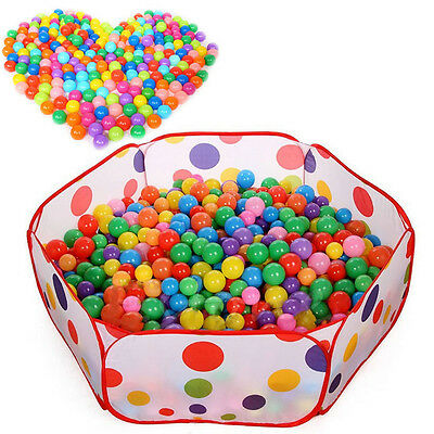 50PCS Swim Fun Colorful Soft Plastic Ocean Ball Secure Baby Kid Pit Toy abus