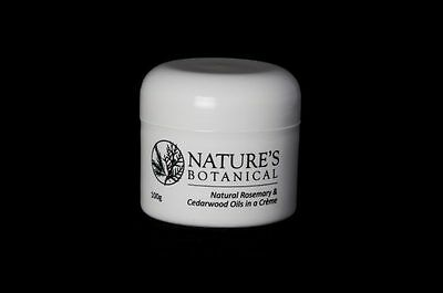 Nature's Botanical 100g Creme Cream Tub  - Natural Rosemary & Cedarwood Oils