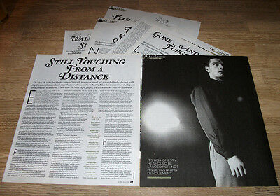 Joy Division  Ian Curtis - 8 Page Feature And Photos - Poster Size 12 X 10 Ins
