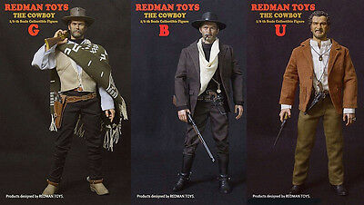 Redman Toys / The Good The Bad & The Ugly 1/6 Figures Collector Set 3-Pack ! Nib