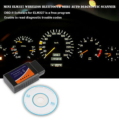 OBD2 OBDII Bluetooth Car Diagnostic Scan Interface Scanner ELM327 for Android