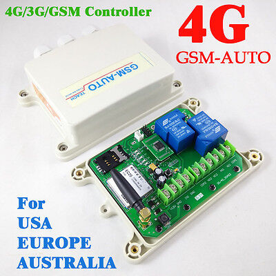4G / 3G GSM Controller Double Big Power Relay Switch Remote Controller