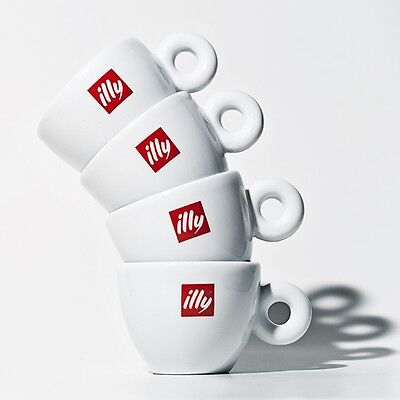Illy Espresso Shot Cups And Saucers X 4