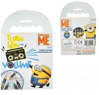 Despicable Me MINIONS Colouring Book and Crayons Party Bags filler kids child