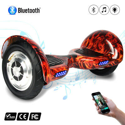 10'  Elettrico Scooter Hoverboard Smart Balance Due Ruote Skateboard Bluetooth