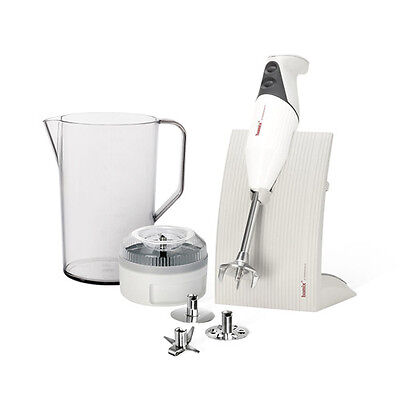 Stainless Steel White Hand Stick Blender Tool w/ Compact Storage Cassette 200 W
