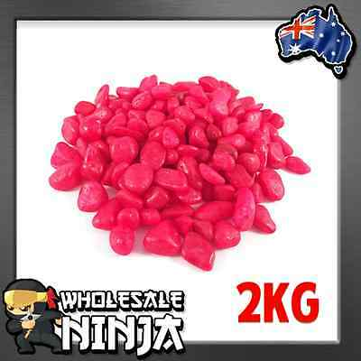 RED FISH TANK GRAVEL 2KG - Pebbles for Fish Tanks, Bowls, Aquariums & Terrariums