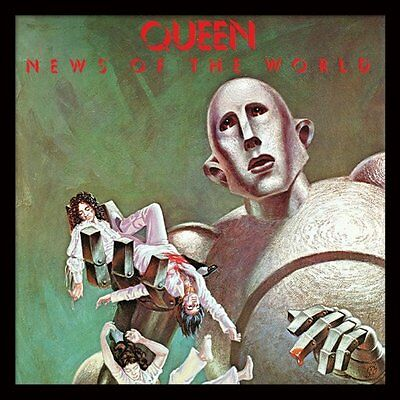 Queen - News of the World - Framed Album Cover Print ACPPR48057