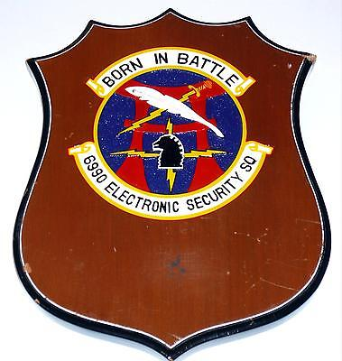 USAF 6990th ESS ELECTRONIC SECURITY SQUADRON PLAQUE